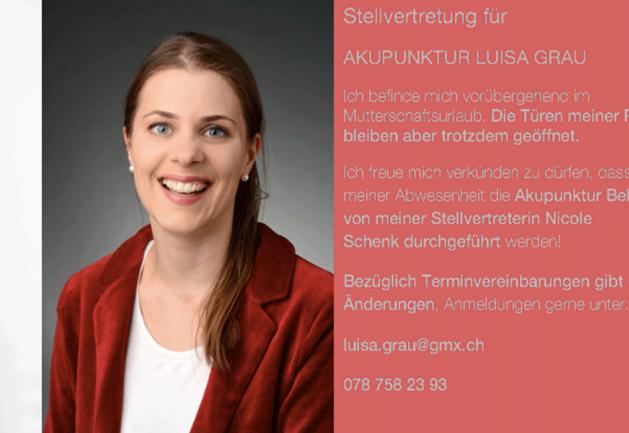 Stellvertretung Akupunktur Luisa Grau